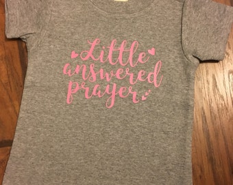 Answered prayer onesie, answered prayer, he answered onesie, baby shower gift, baby girl coming home outfit, baby girl onesie, baby girl ons