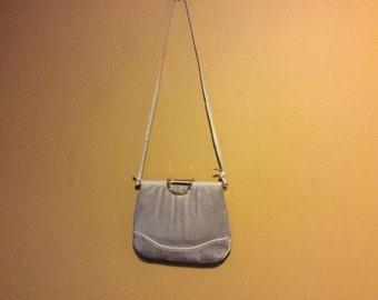 Vintage Genuine Leather Suede Crossbody Bag by Carlino