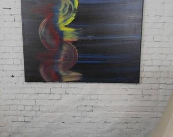"Motion - 16""x20"" original acrylic painting on canvas"