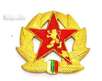 Soviet Hat Pin, Red Star, Communism,Pin Vintage Military Sign, Brooch Soviet, Bulgarian Badge Soviet Military Pin USSR 1970s