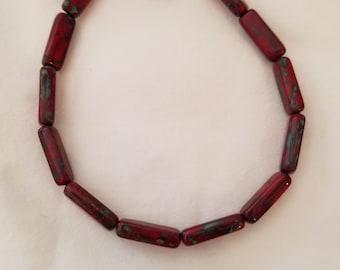 Red Czech Glass braclet