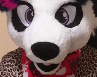 Fursuit bandana skull and cross bone print