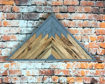 Reclaimed Lath Mountains, Lath Mountain Decor, Lath Mountains, Lath  Mountain Art, Reclaimed Wood Wall Art, Boho Wood Art, Triangle Wood Art