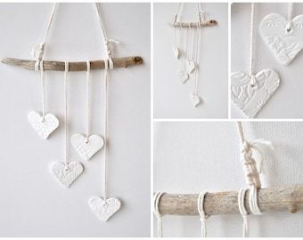 Driftwood heart etsy - Grijze muur deco ...