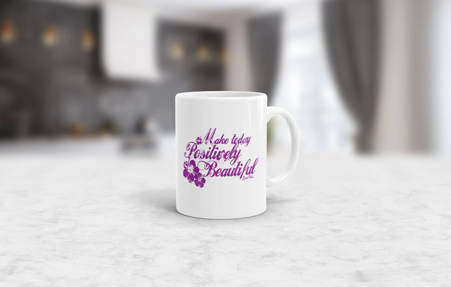 positively beautiful coffee mug
