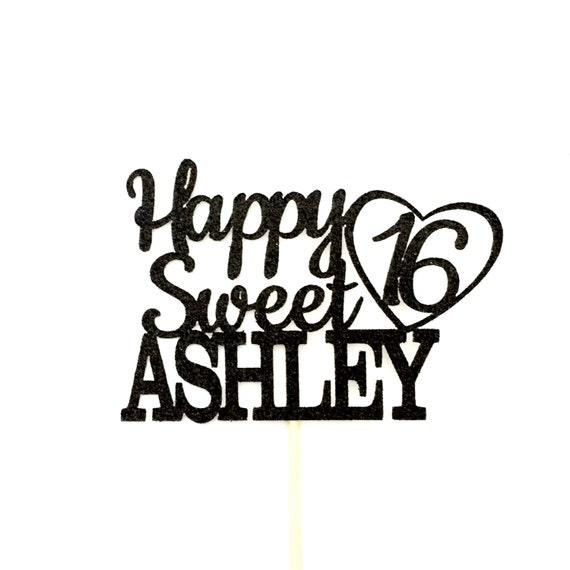 Happy 16th Birthday Gift Ideas Spaceform Sweet Sixteen: Any Name Happy Sweet 16 Birthday Cake Topper 16th Birthday