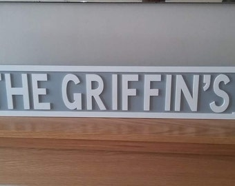 Personalised Street Sign, custom sign, any wording street sign, wedding street sign