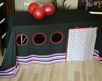 Boys fort/ Table tent/ Tablecloth playhouse/ Pirate party decor/ Pirate birthday/ & Tablecloth playhouse | Etsy