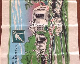 "Linen Teatowel - 'Home Hill"" Devonport, Tasmania"