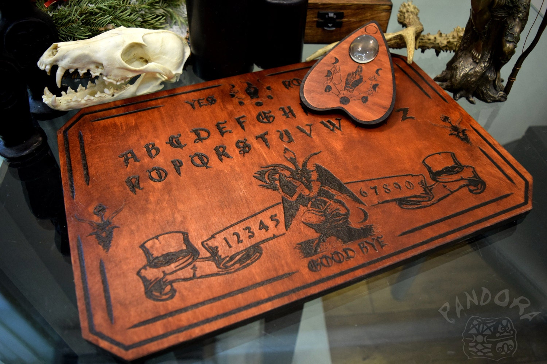 Ouija Board Coffee Table Baphomet Etsy
