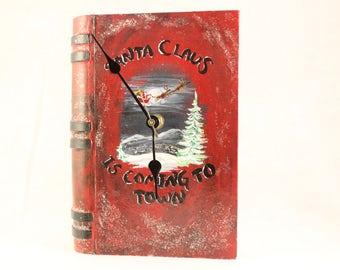 Santa Claus Secret Book Clock