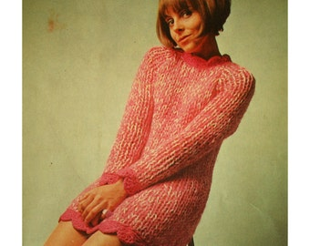 Supersonic Chunky 1960s Knitted Dress Pattern