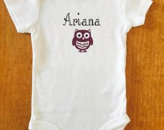Personalized baby girl bodysuit, Baby girl clothing, Baby girl Personalized, Personalized Bodysuit, Glitter Bodysuit, Baby Girl
