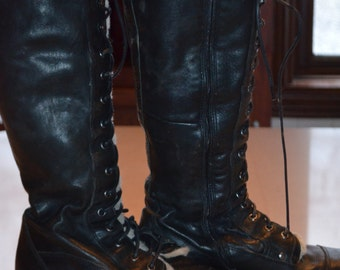 Code WINTEREND: 20% + reduced SHIPPING! Rare! Winter boots lined black leather Aldo 38