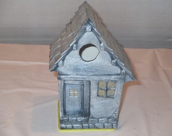 small ceramic birdhouse