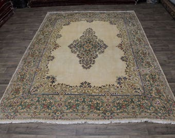 One of a Kind Double Knotted Plush Kerman Persian Rug Oriental Area Carpet 10X14