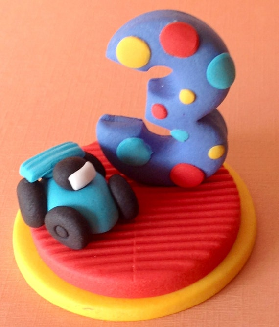 Edible 3d racing car cake topper boys cake decorations for 3d printer cake decoration