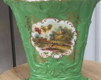 Hand painted Victorian flower vase