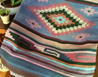 FREE SHIPPING! Vintage Southwestern Native American Blanket, Rug or Wall Hanger