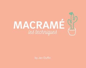 FRANCAIS DIY Macrame manual PDF, macrame plant hanger, macrame wall hanging, macrame instructions,