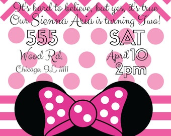 Minnie Mouse 2nd Birthday Invitation