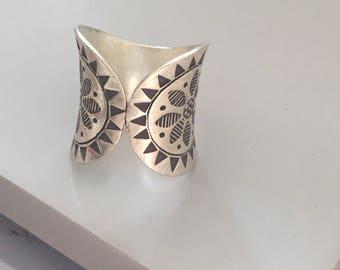 Karen hill tribe Sterling silver ring