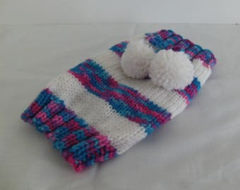 Small striped dog sweater, handmade, knitted dog sweater