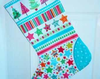 Christmas stocking, Xmas stocking, lined stocking