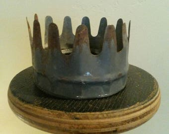 Crown made out of old farm equipment