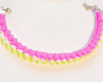 Neon girls choker necklace