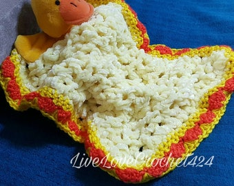 Quackup the cute little duck Baby Cuddle Blanket Rug for Baby Boy or Girl