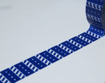 Dark Blue Geometric Washi Tape