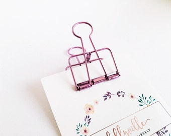 1x Clip for paper bags pink- 5,0 cm