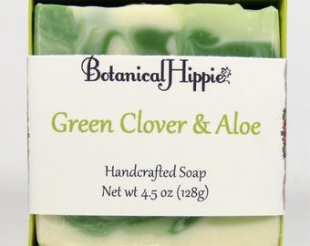 Green Clover & Aloe, Handmade Bar Soap