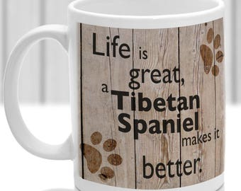 Tibetan Spaniel Mug Tibetan Spaniel Gift, dog breed mug, ideal present for dog lover