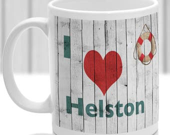 Helston mug, Gift to remember Cornwall, Ideal present,custom design.