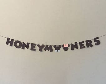 Mr and Mrs Mouse Honeymooners Banner