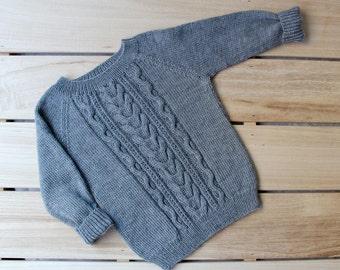 knitted baby jumper etsy. Black Bedroom Furniture Sets. Home Design Ideas
