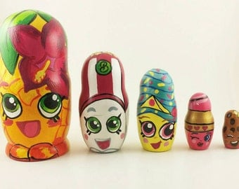 custom nesting doll set of 5 personalized nesting dolls russian nesting dolls set stackable educational toys