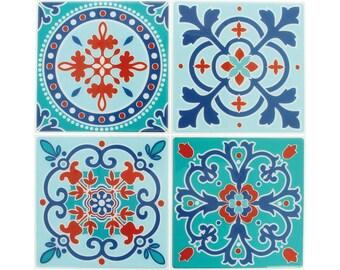4 stickers tiles cement 12 x 12 cm - Stickers tiles cement - tile adhesive cement - tile sticker - 22002027