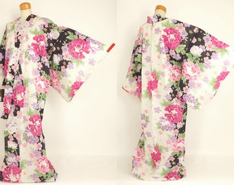 "M51701 Elegant Brand New ""Poeny"" Japanese ""Yukata"" Tall and Big Size"