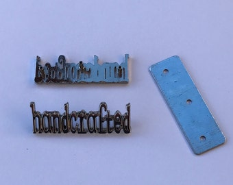 Antique Brass Metal Handcrafted Tags. These are sold in sets of 12 of the same finish