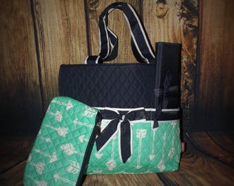 Monogrammed Arrow diaper bag, Personalized Arrow diaper bag, Arrow diaper bag, monogrammed diaper bags, personalized diaper bags, diaper bag