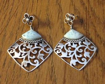 Silver Agate Earrings