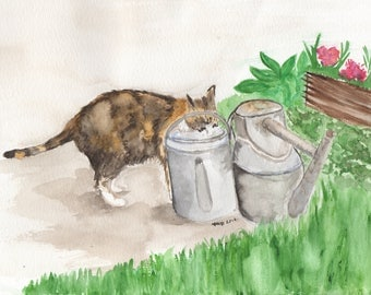 Watercolour Pet Portrait (W/Background) - MADE TO ORDER