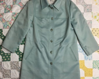 Vintage Women's London Fog Maincoats Trench Raincoat Large 12R Blue