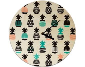 Pineapples Pattern Childrens Clock / Kids Clock