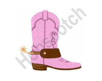 Cowgirl Boot - Machine Embroidery Design