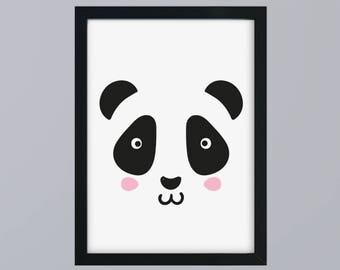 Panda motif in SW - unframed art print
