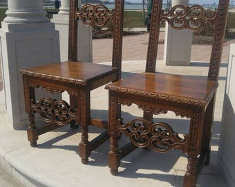 Pair of Chilean Conquistadores Chairs (2)